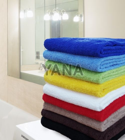 Unicolor terry towels for Bathroom