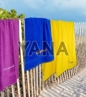 Custom made towels with embroidered logo